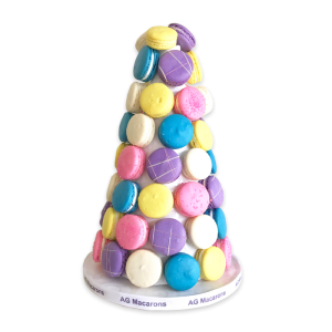 Traditional Frech Macaron Towers by AG Macarons